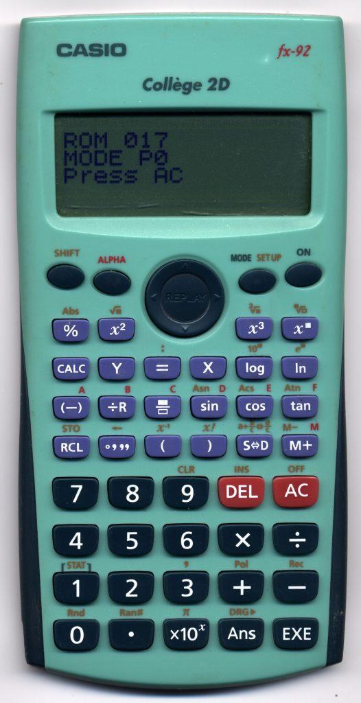 calculatrice casio college fx 92 2d+