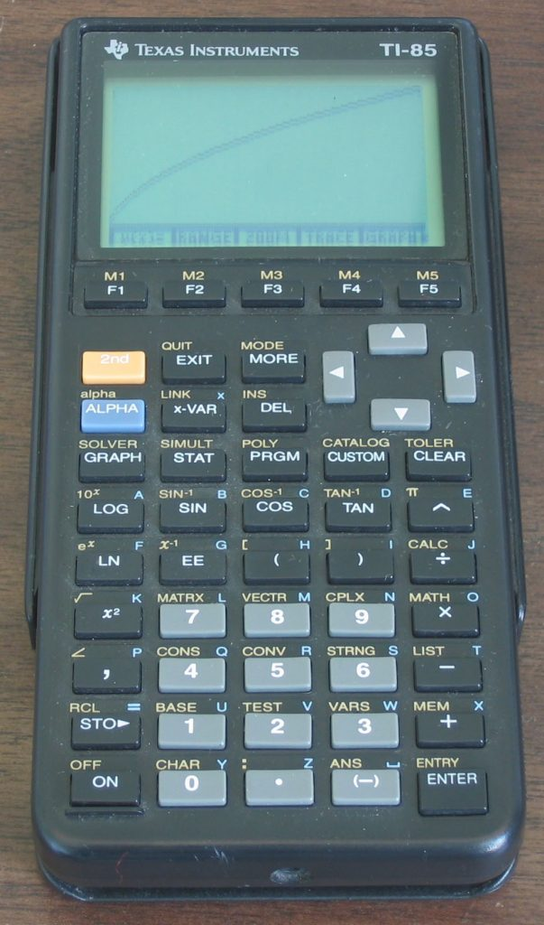 calculatrice graphique ti 85