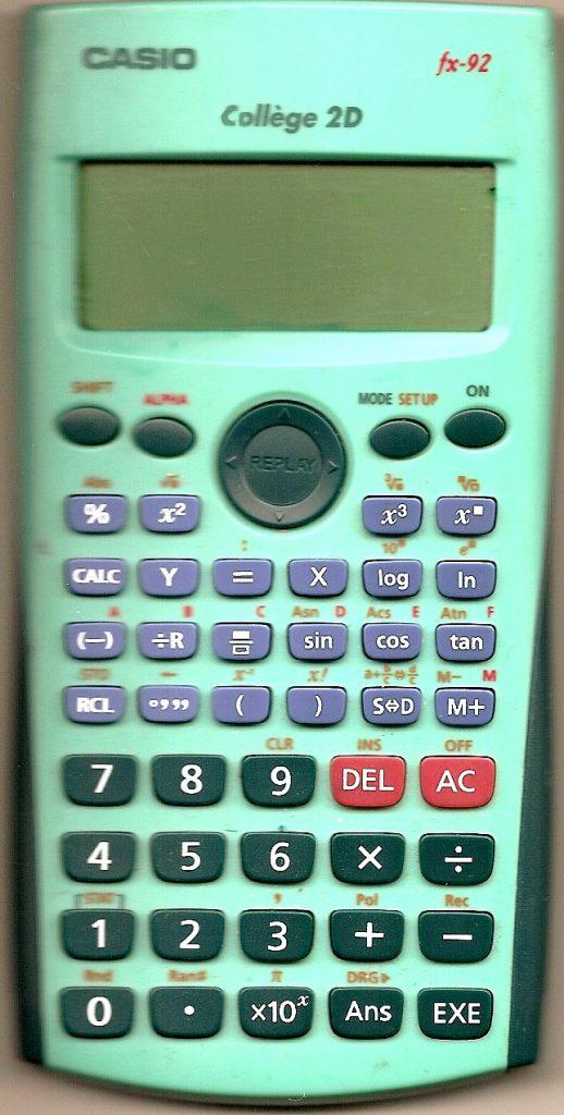 casio fx 92 collège calculatrice